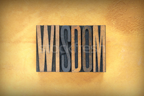 Wisdom Letterpress Stock photo © enterlinedesign