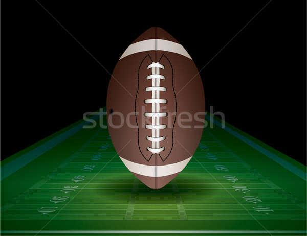 American Football and Field Illustration Stock photo © enterlinedesign