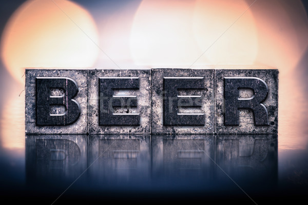 Beer Concept Vintage Letterpress Type Stock photo © enterlinedesign