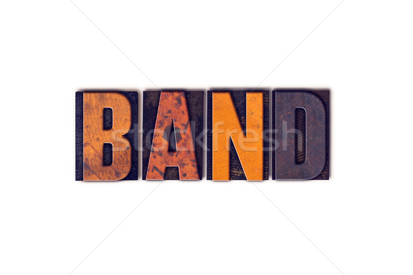 Band Concept Isolated Letterpress Type Stock photo © enterlinedesign