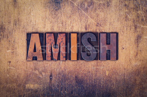 Amish Concept Wooden Letterpress Type Stock photo © enterlinedesign