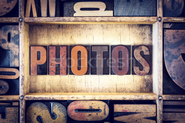 Photos Concept Letterpress Type Stock photo © enterlinedesign