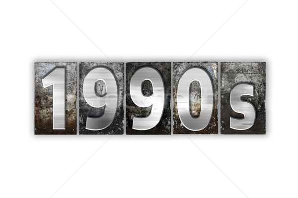 1990s Concept Isolated Metal Letterpress Type Stock photo © enterlinedesign