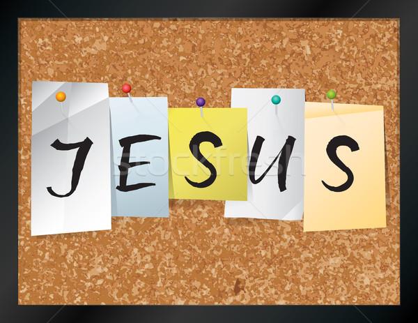 Jesus Bulletin Board Theme Illustration Stock photo © enterlinedesign
