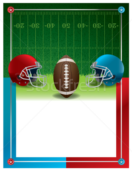 Stock photo: American Football Party Flyer Template