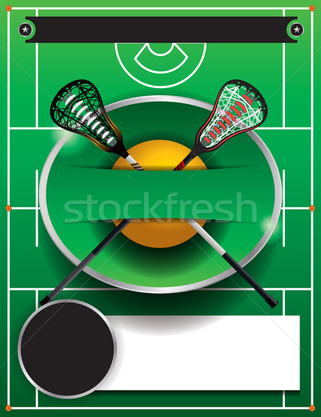 Lacrosse sjabloon flyer evenement vector eps Stockfoto © enterlinedesign
