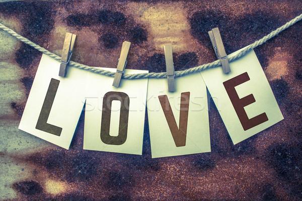 любви карт ржавчины слово карт складе Сток-фото © enterlinedesign