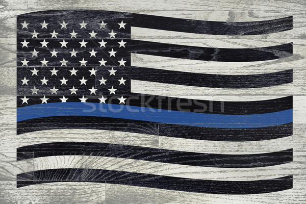 Police and Law Enforcement Flag Stock photo © enterlinedesign
