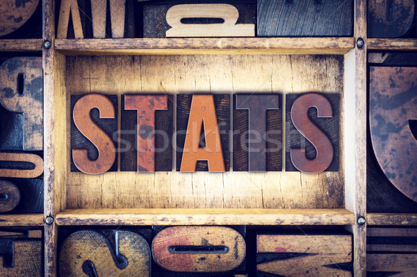 Stats Concept Letterpress Type Stock photo © enterlinedesign