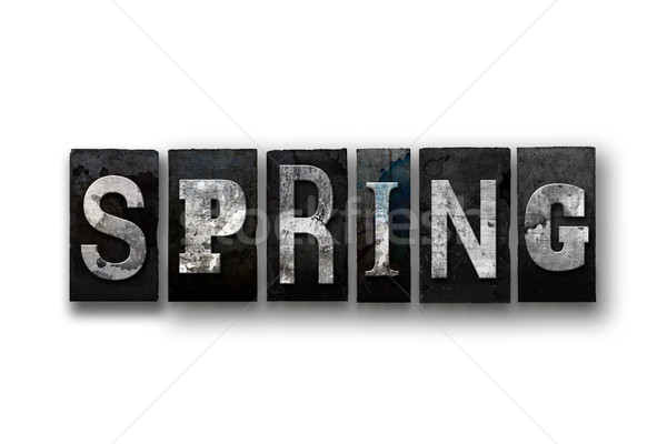 Spring Concept Isolated Letterpress Type Stock photo © enterlinedesign