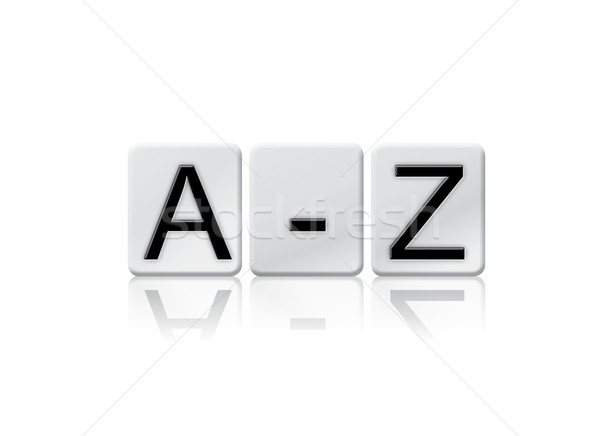 A-Z Isolated Tiled Letters Concept and Theme Stock photo © enterlinedesign