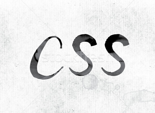 CSS Concept Painted in Ink Stock photo © enterlinedesign