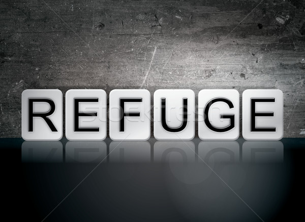 Refuge Tiled Letters Concept and Theme Stock photo © enterlinedesign