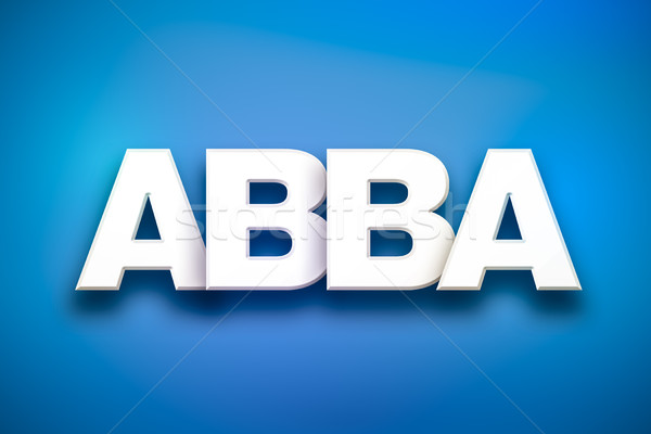 Abba Theme Word Art on Colorful Background Stock photo © enterlinedesign