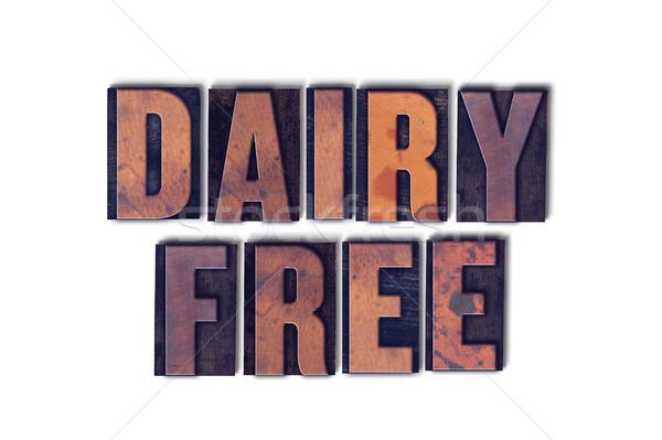 Zuivelfabriek gratis geïsoleerd woord woorden Stockfoto © enterlinedesign