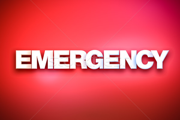 Emergency Theme Word Art on Colorful Background Stock photo © enterlinedesign