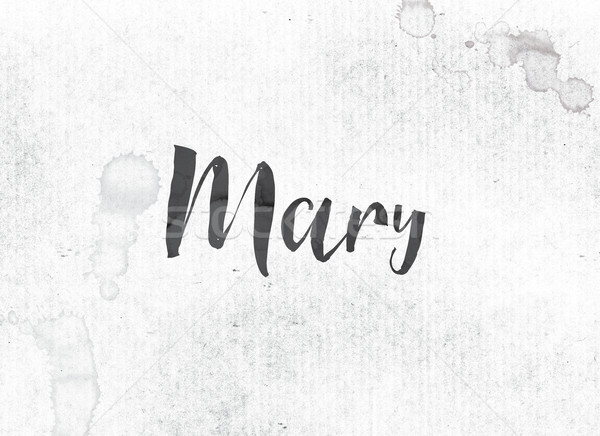 Mary Concept Painted Ink Word and Theme Stock photo © enterlinedesign
