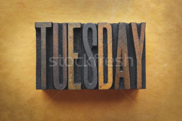 Tuesday Stock photo © enterlinedesign