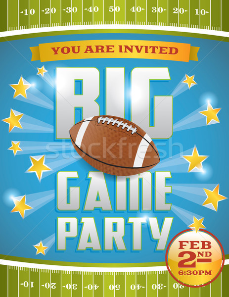 American Football Party Flyer Stock photo © enterlinedesign