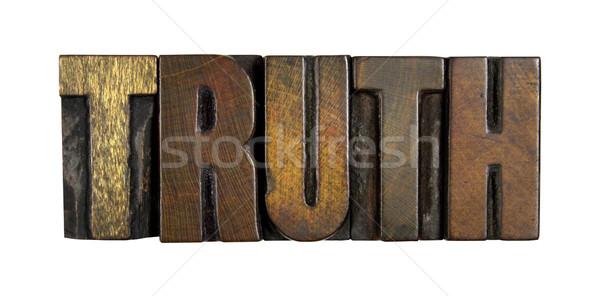 Verdade isolado branco palavra escrito vintage Foto stock © enterlinedesign