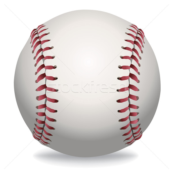 Isolated Baseball Illustration Stock photo © enterlinedesign