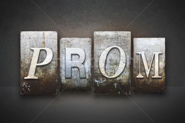 Prom palavra escrito vintage tipo Foto stock © enterlinedesign