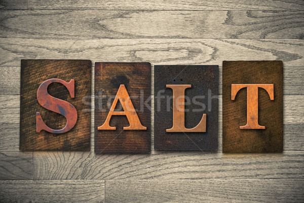 Salt Wooden Letterpress Theme Stock photo © enterlinedesign