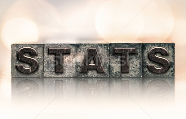 Stats Concept Vintage Letterpress Type Stock photo © enterlinedesign