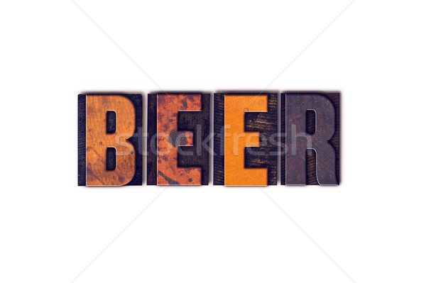 Beer Concept Isolated Letterpress Type Stock photo © enterlinedesign