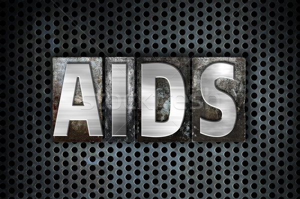 AIDS Concept Metal Letterpress Type Stock photo © enterlinedesign
