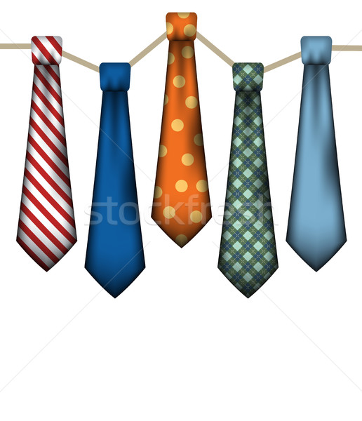 Men's Neck Ties on White Stock photo © enterlinedesign