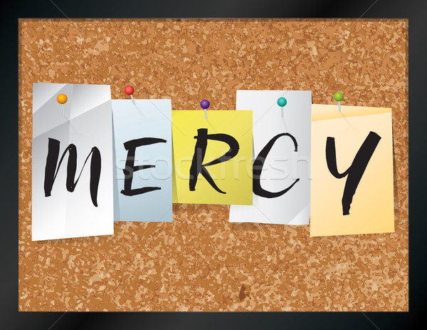 Mercy Bulletin Board Theme Illustration Stock photo © enterlinedesign