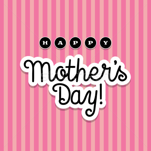 Happy Mother's Day Illustration Stock photo © enterlinedesign