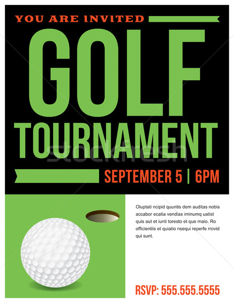 Golf Tournament Flyer Invitation Illustration Stock photo © enterlinedesign