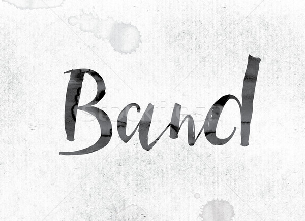 Band Concept Painted in Ink Stock photo © enterlinedesign