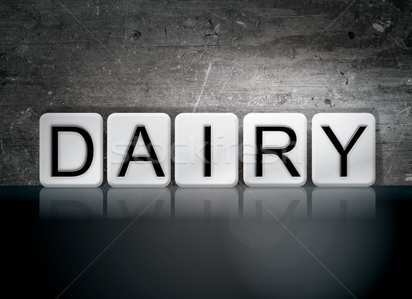Dairy Tiled Letters Concept and Theme Stock photo © enterlinedesign