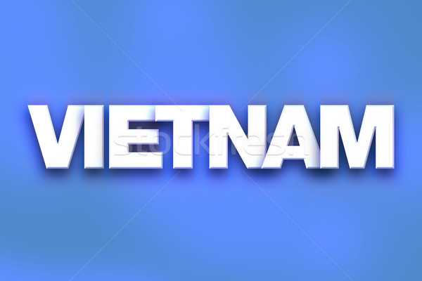 Vietnam Concept Colorful Word Art Stock photo © enterlinedesign