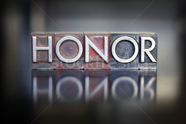 Honor Letterpress Stock photo © enterlinedesign