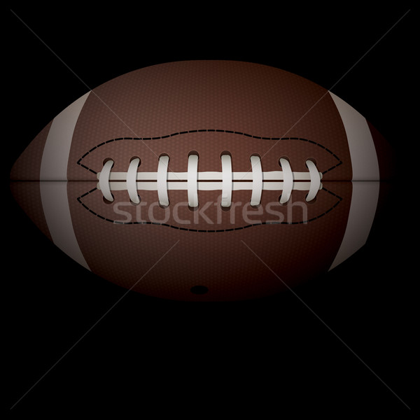 Gerçekçi yatay amerikan futbol örnek siyah Stok fotoğraf © enterlinedesign