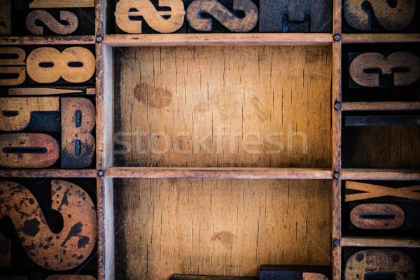Vintage tipo gaveta cópia espaço madeira Foto stock © enterlinedesign