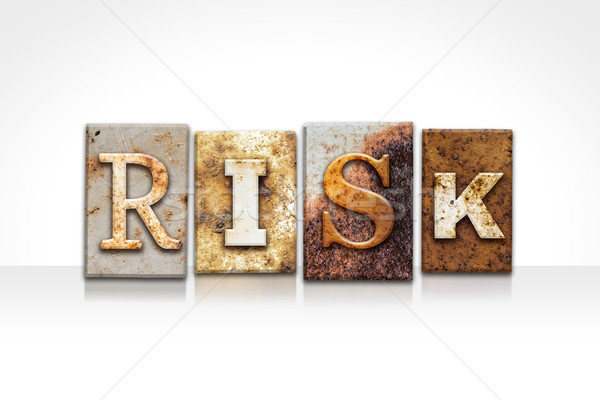 Risk Letterpress Concept Isolated on White Stock photo © enterlinedesign