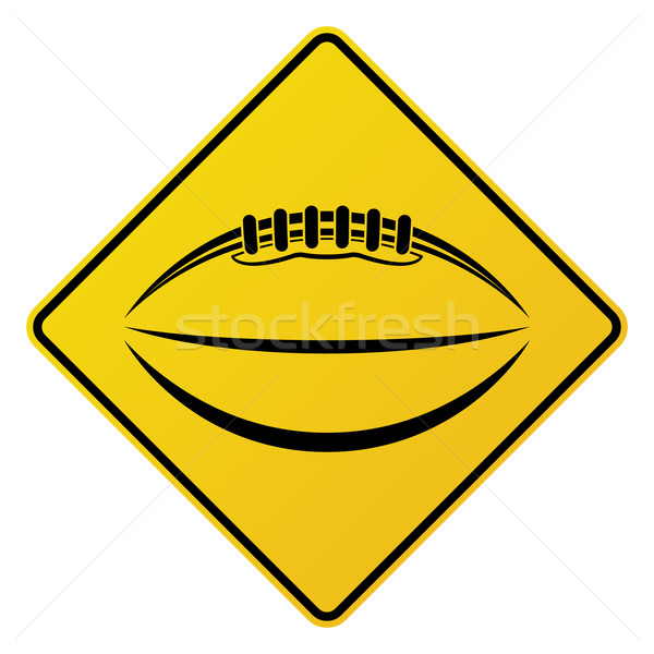 Citromsárga amerikai futball jelzőtábla illusztráció ikon Stock fotó © enterlinedesign