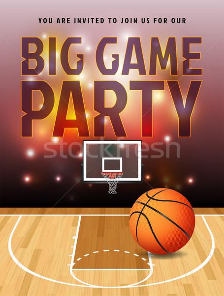Basketball Big Game Party Illustration Stock photo © enterlinedesign