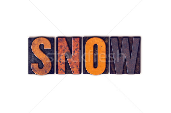 Snow Concept Isolated Letterpress Type Stock photo © enterlinedesign