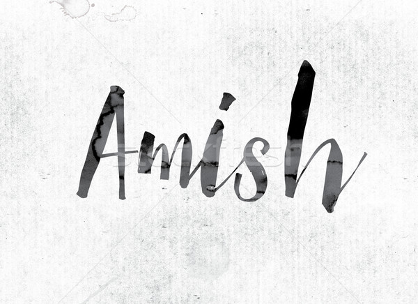 Amish Concept Painted in Ink Stock photo © enterlinedesign