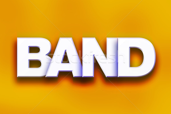 Band Concept Colorful Word Art Stock photo © enterlinedesign