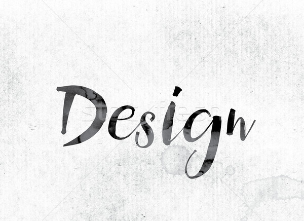 Design Concept Painted in Ink Stock photo © enterlinedesign
