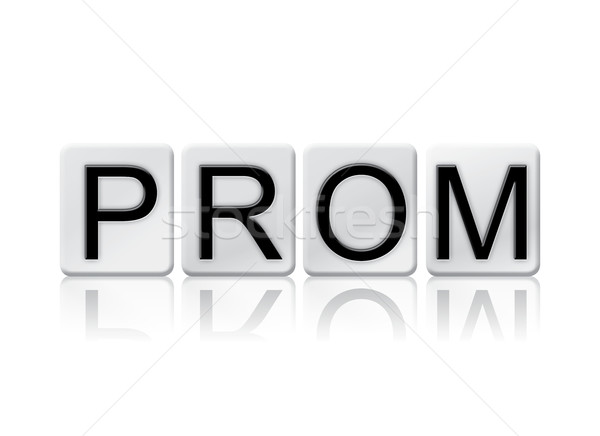 Prom Isolated Tiled Letters Concept and Theme Stock photo © enterlinedesign