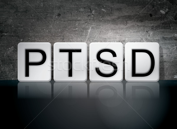 PTSD Tiled Letters Concept and Theme Stock photo © enterlinedesign