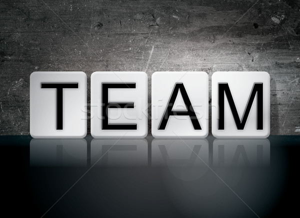 Team Tiled Letters Concept and Theme Stock photo © enterlinedesign
